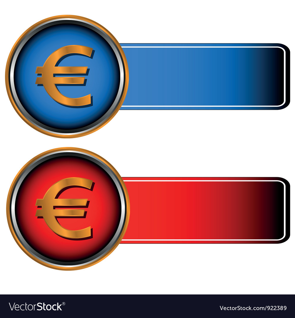 Two symbols of currencies vector | Price: 1 Credit (USD $1)