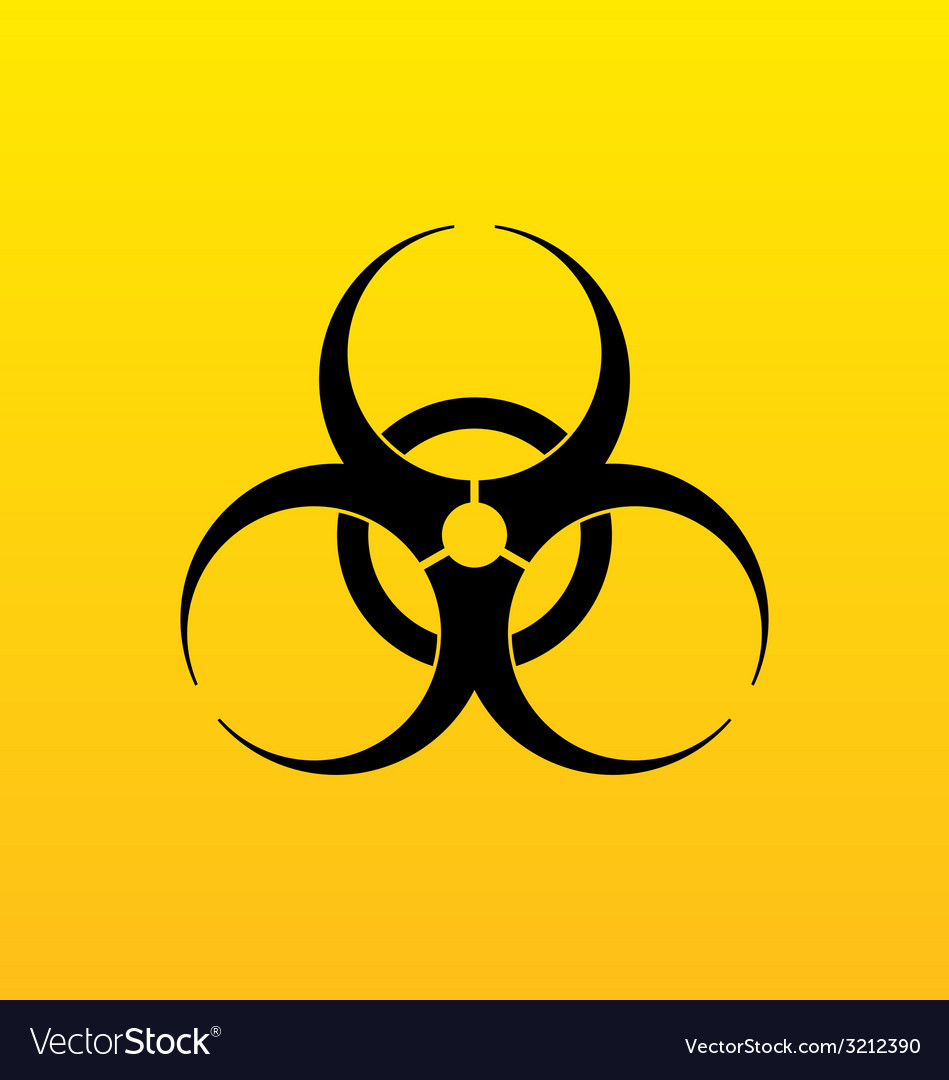 Bio hazard sign danger symbol warning vector | Price: 1 Credit (USD $1)