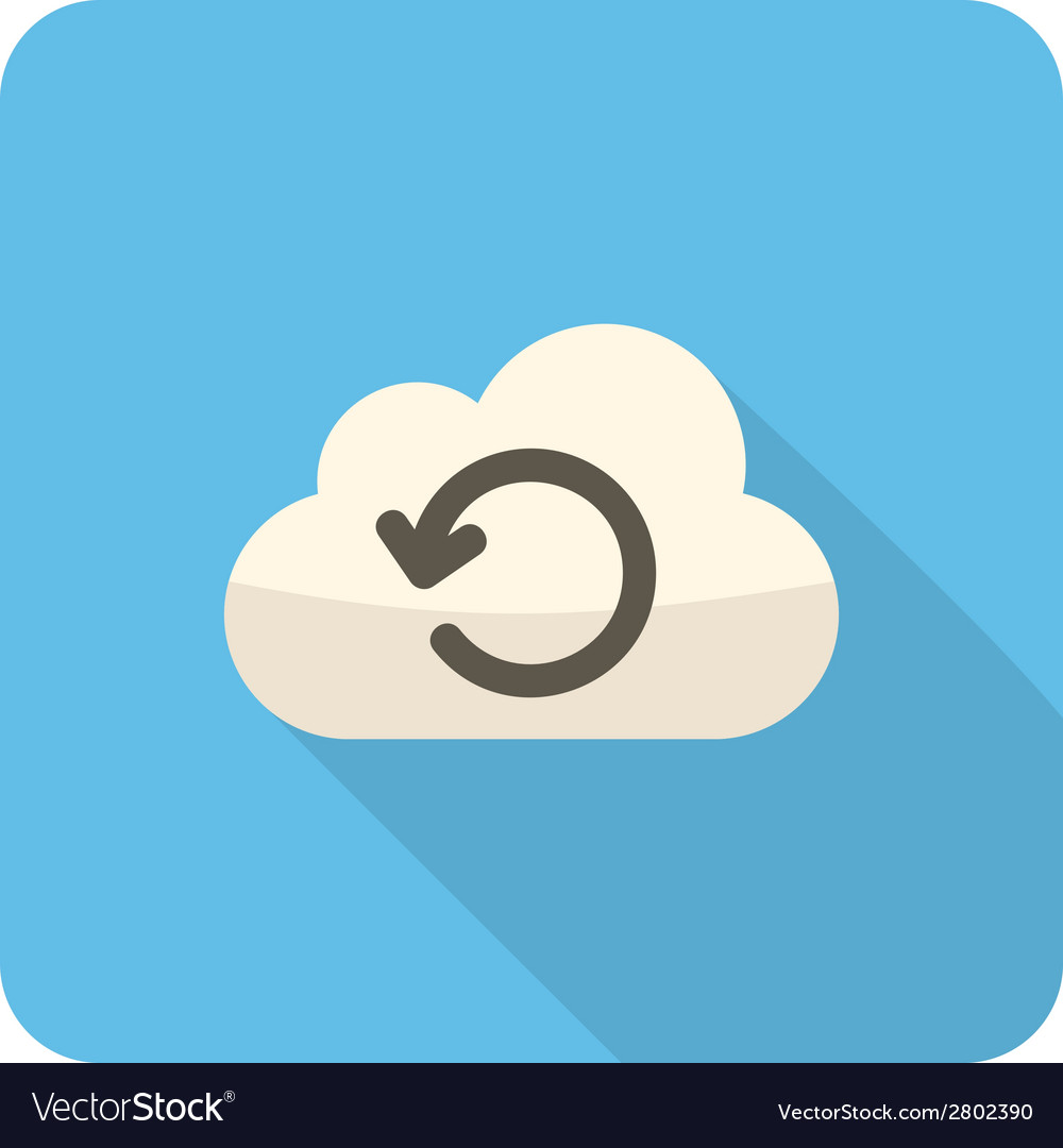 Cloud loading icon vector | Price: 1 Credit (USD $1)