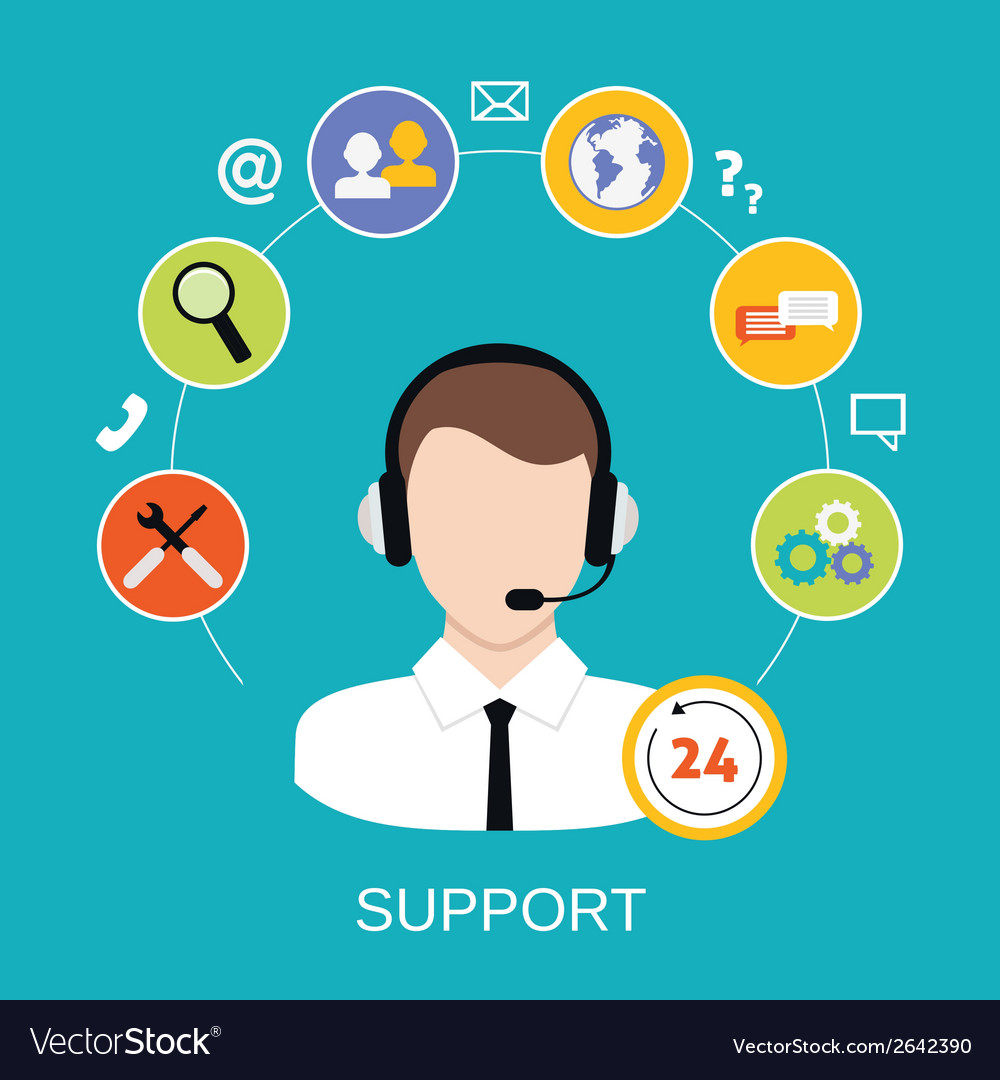 Customer support service vector | Price: 1 Credit (USD $1)