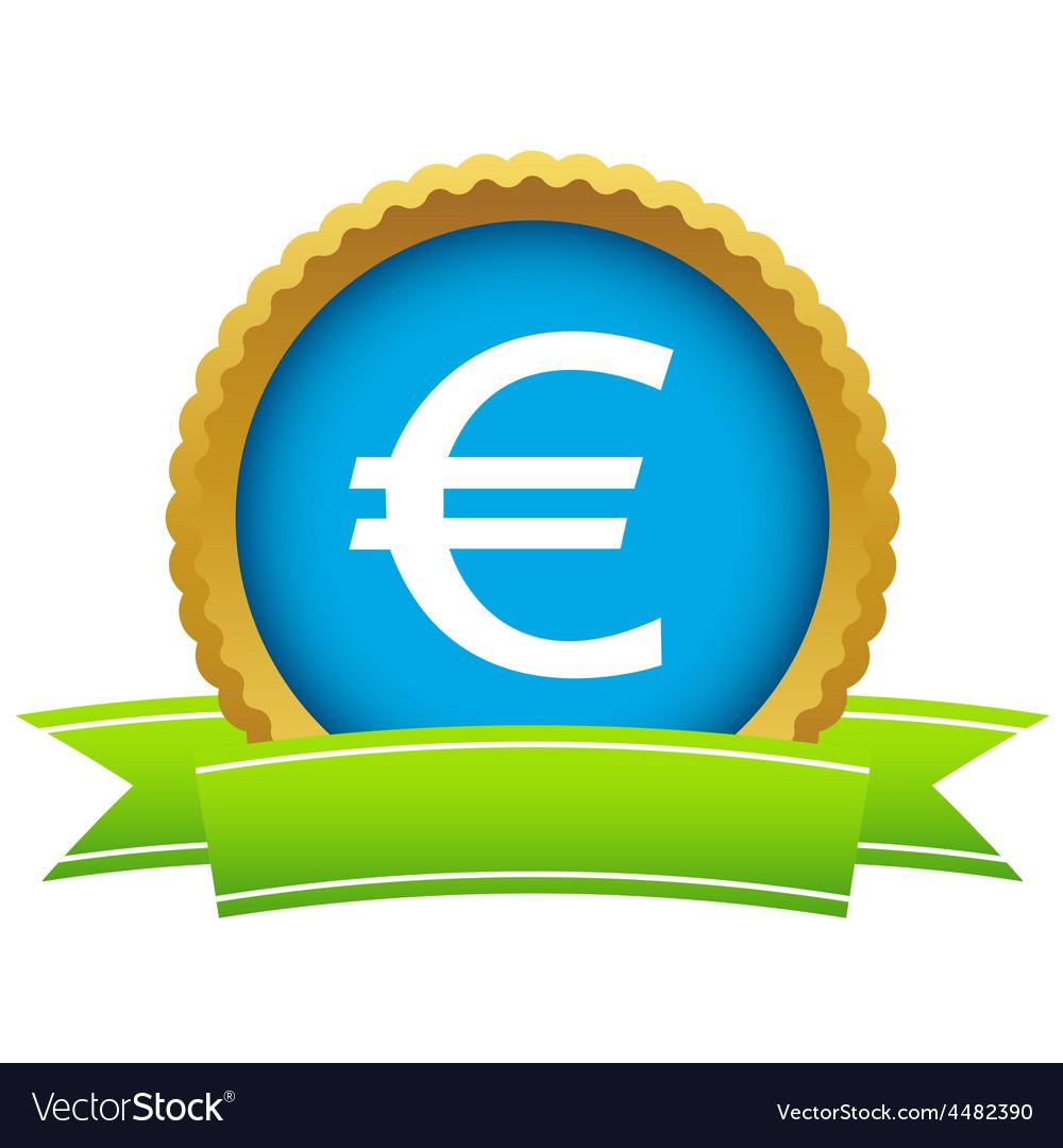 Gold euro logo vector   Price: 1 Credit (USD $1)