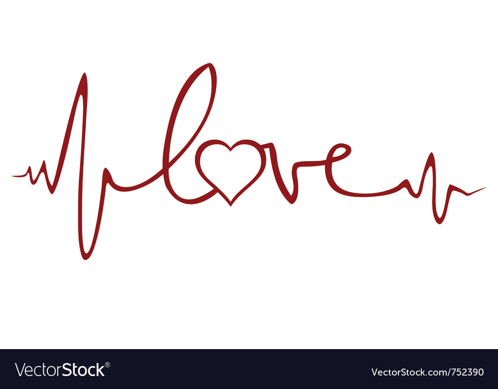 Love ekg vector | Price: 1 Credit (USD $1)