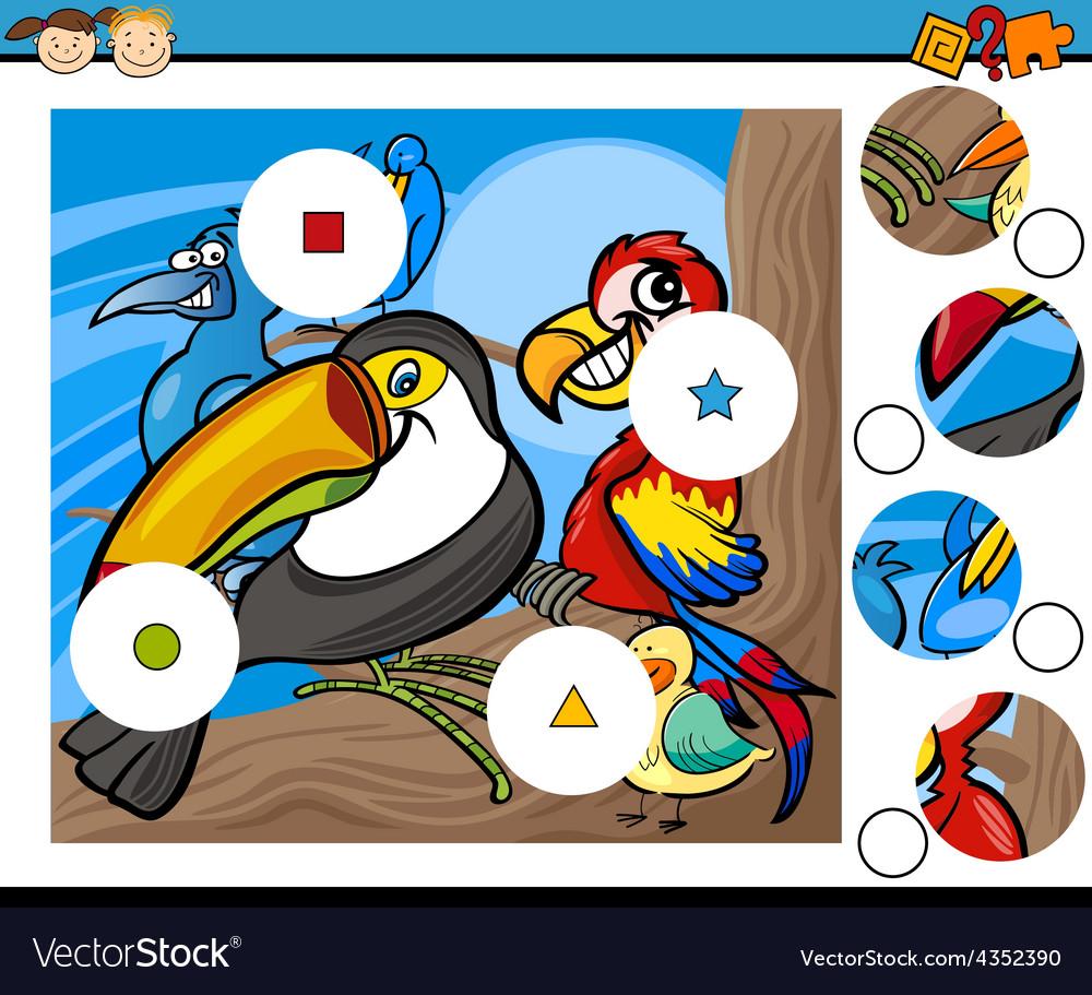 Match pieces game cartoon vector | Price: 3 Credit (USD $3)