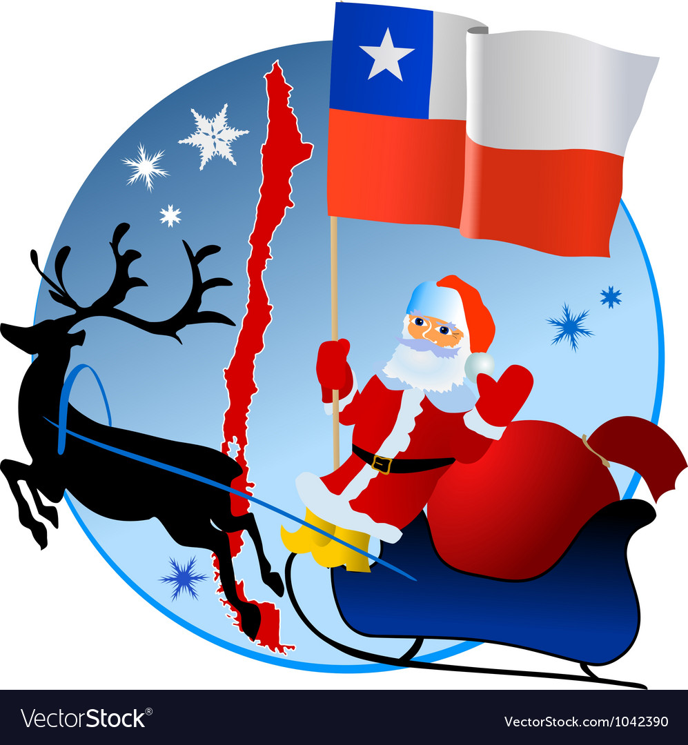 Merry christmas chile vector | Price: 1 Credit (USD $1)