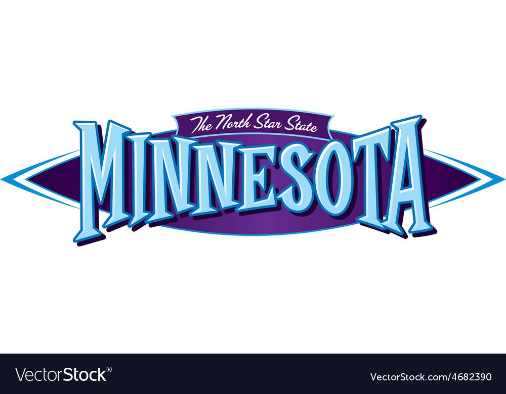 Minnesota the north star state vector | Price: 1 Credit (USD $1)