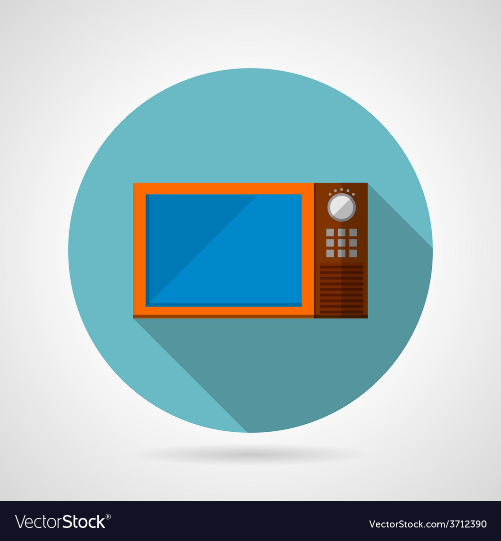 Modern microwave oven flat icon vector | Price: 1 Credit (USD $1)
