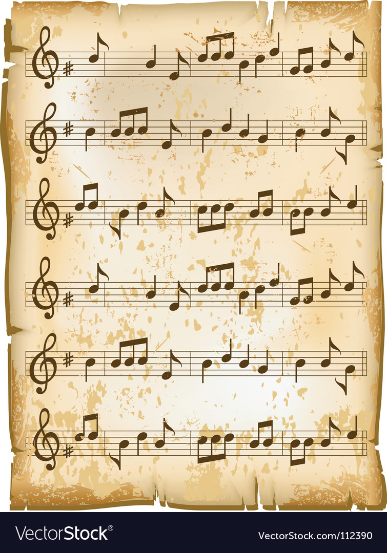 Music sheet vector | Price: 1 Credit (USD $1)