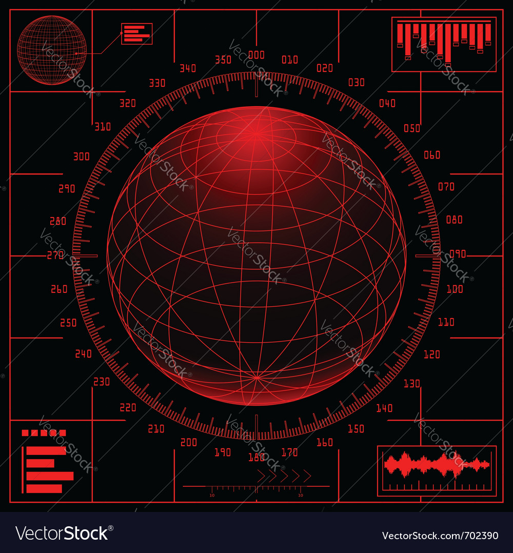 Radar screen vector | Price: 1 Credit (USD $1)