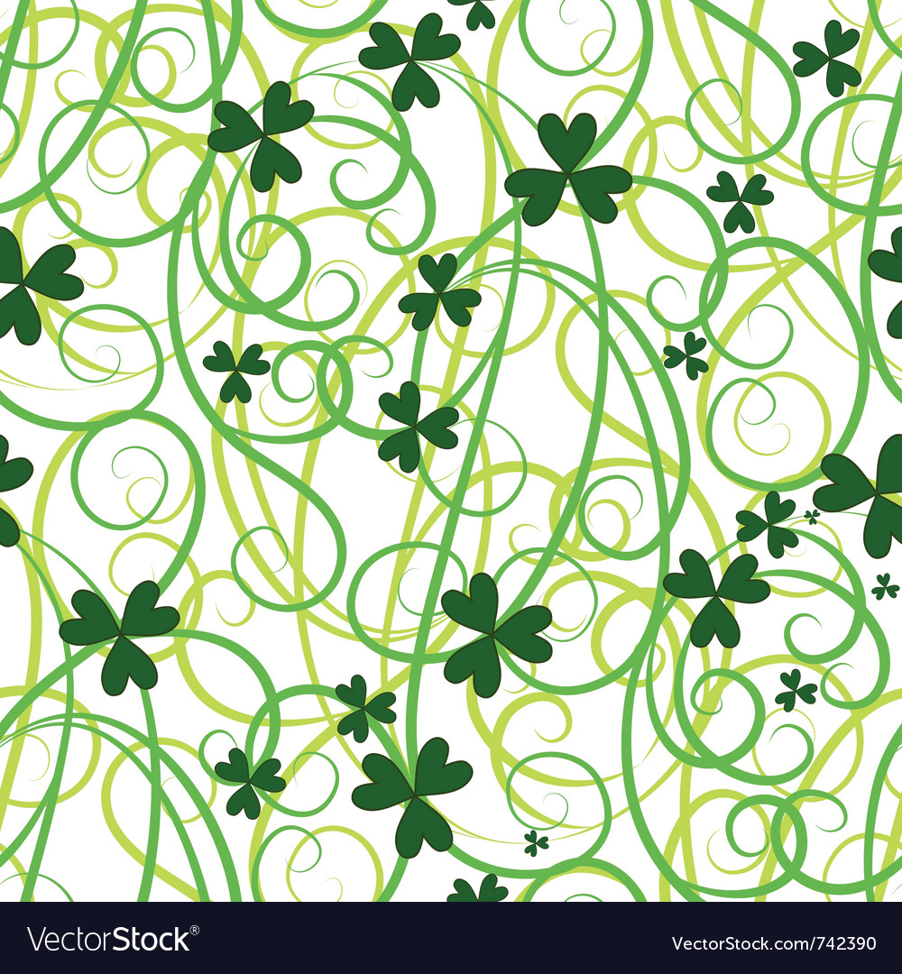 Seamless shamrock leaves vector | Price: 1 Credit (USD $1)