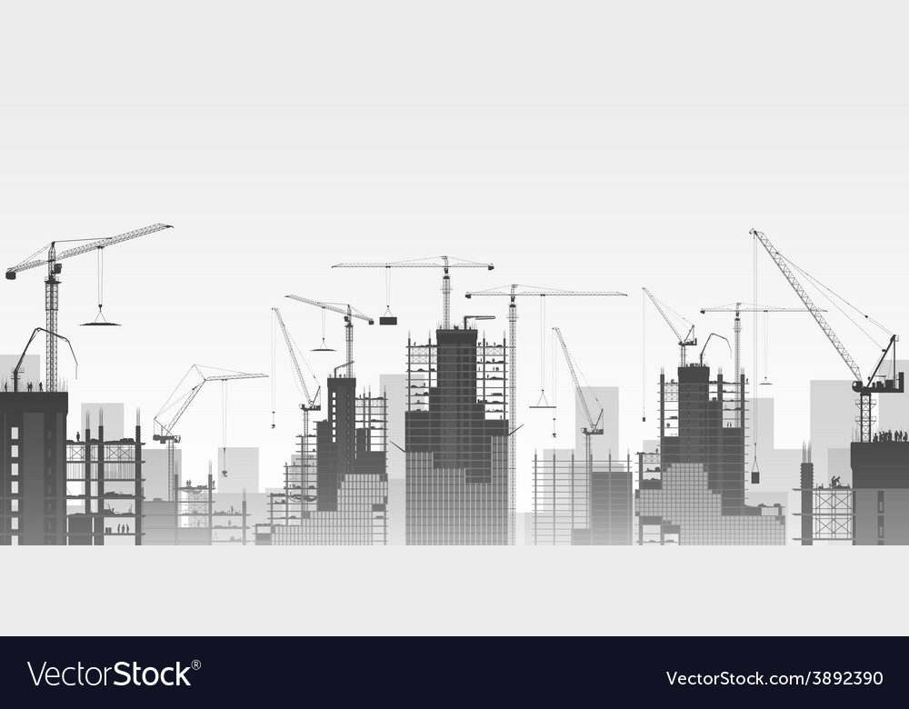 Tower cranes vector | Price: 3 Credit (USD $3)