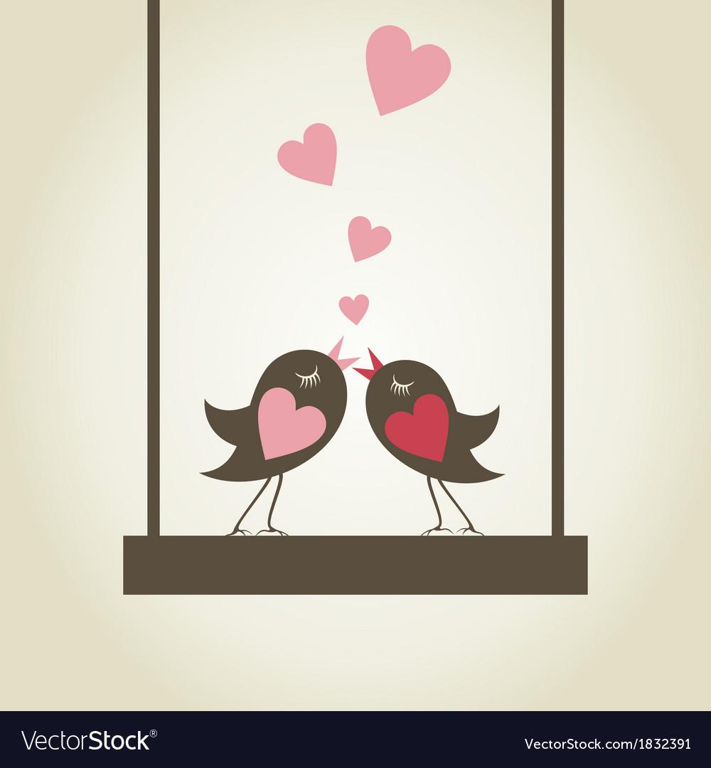 Bird of love9 vector | Price: 1 Credit (USD $1)