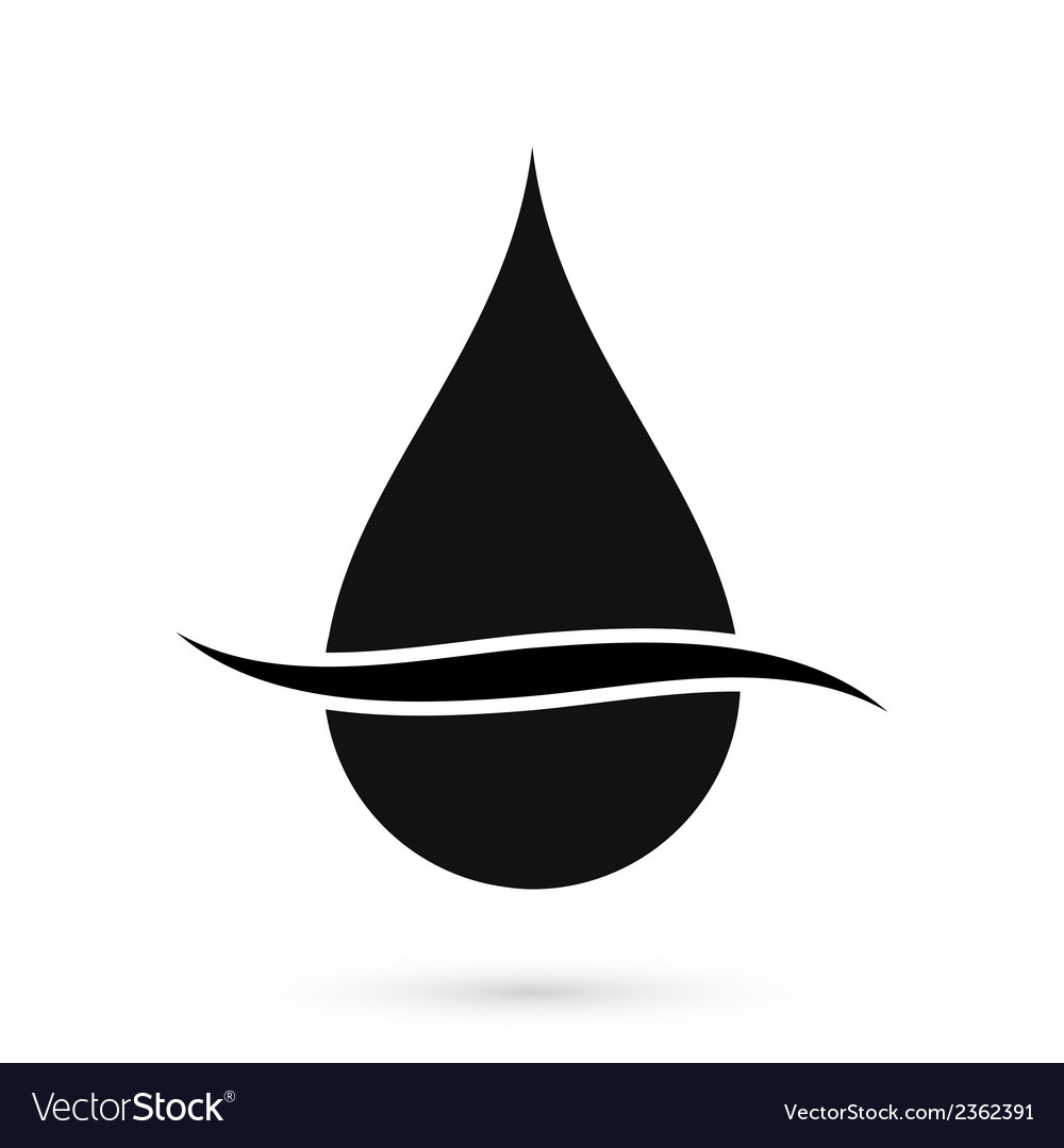 Black oil drop symbol vector | Price: 1 Credit (USD $1)