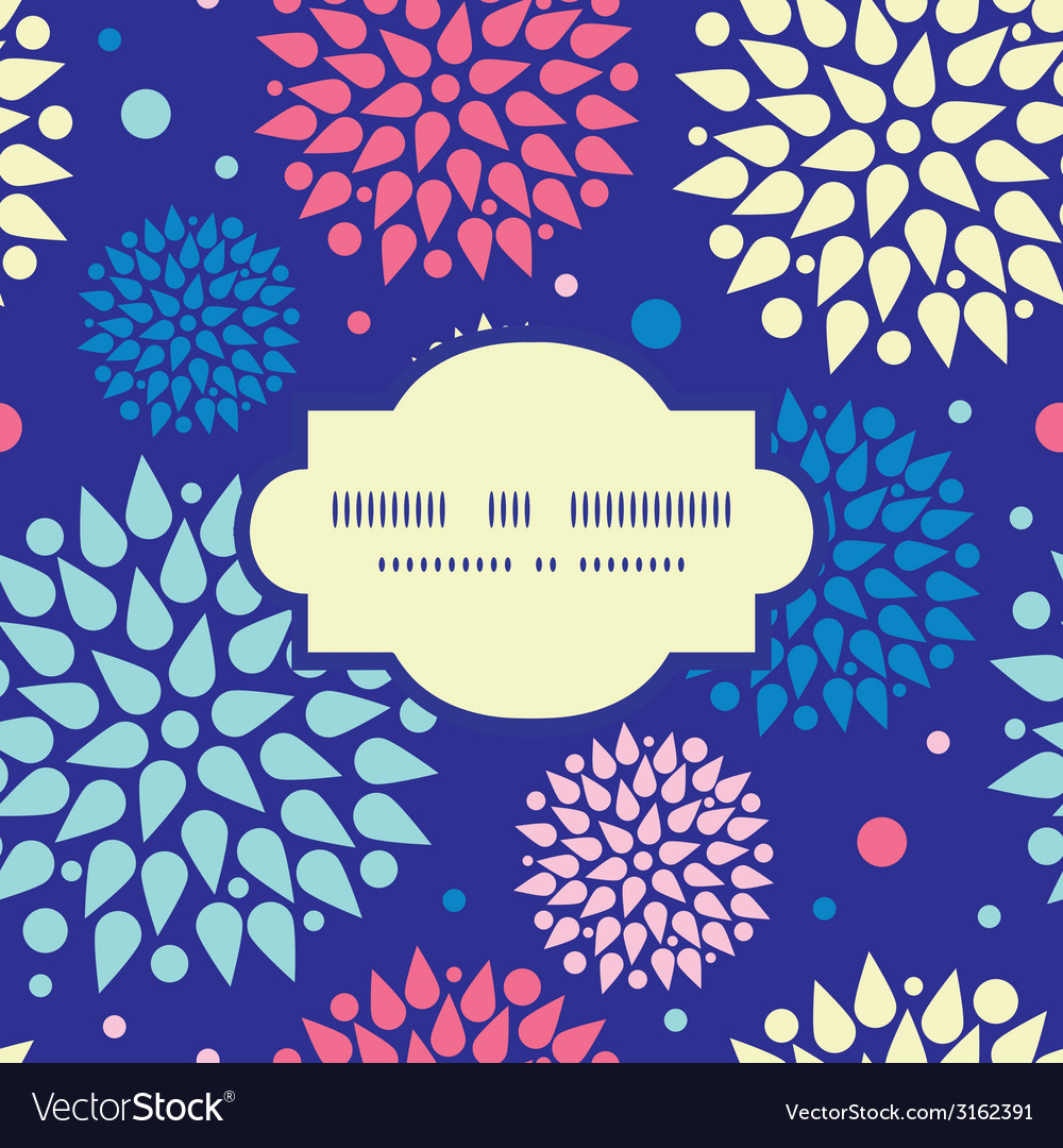 Colorful bursts frame seamless pattern background vector | Price: 1 Credit (USD $1)