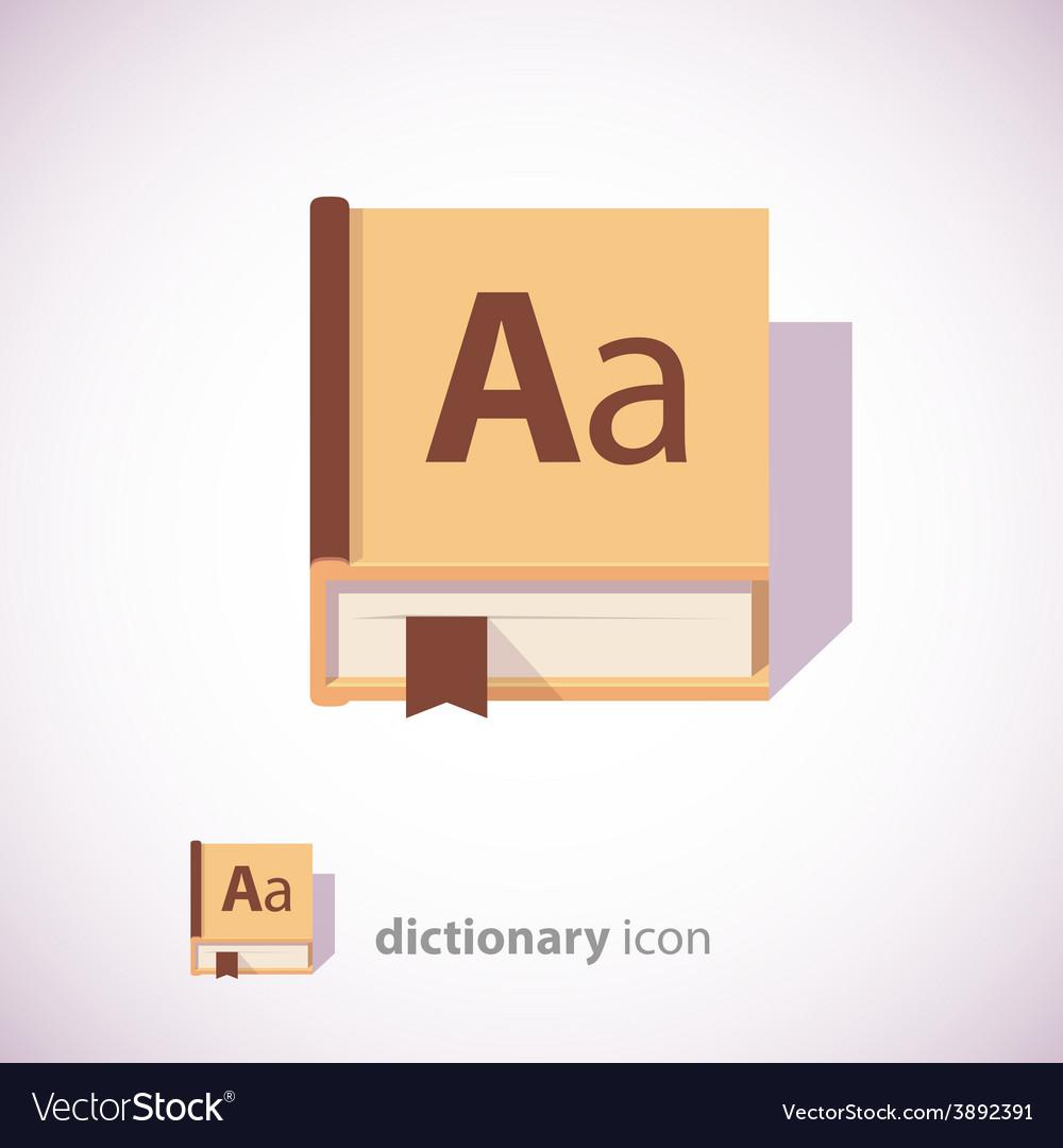 Dictionary book icon vector | Price: 1 Credit (USD $1)