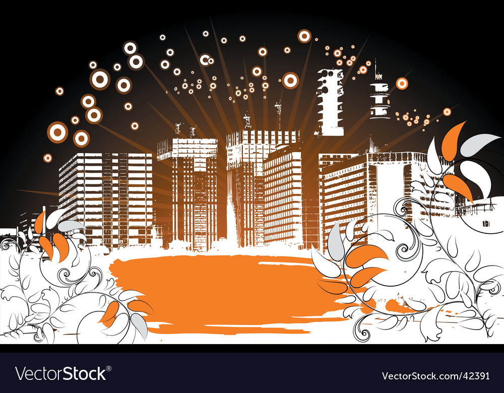 Grunge city background vector | Price: 1 Credit (USD $1)