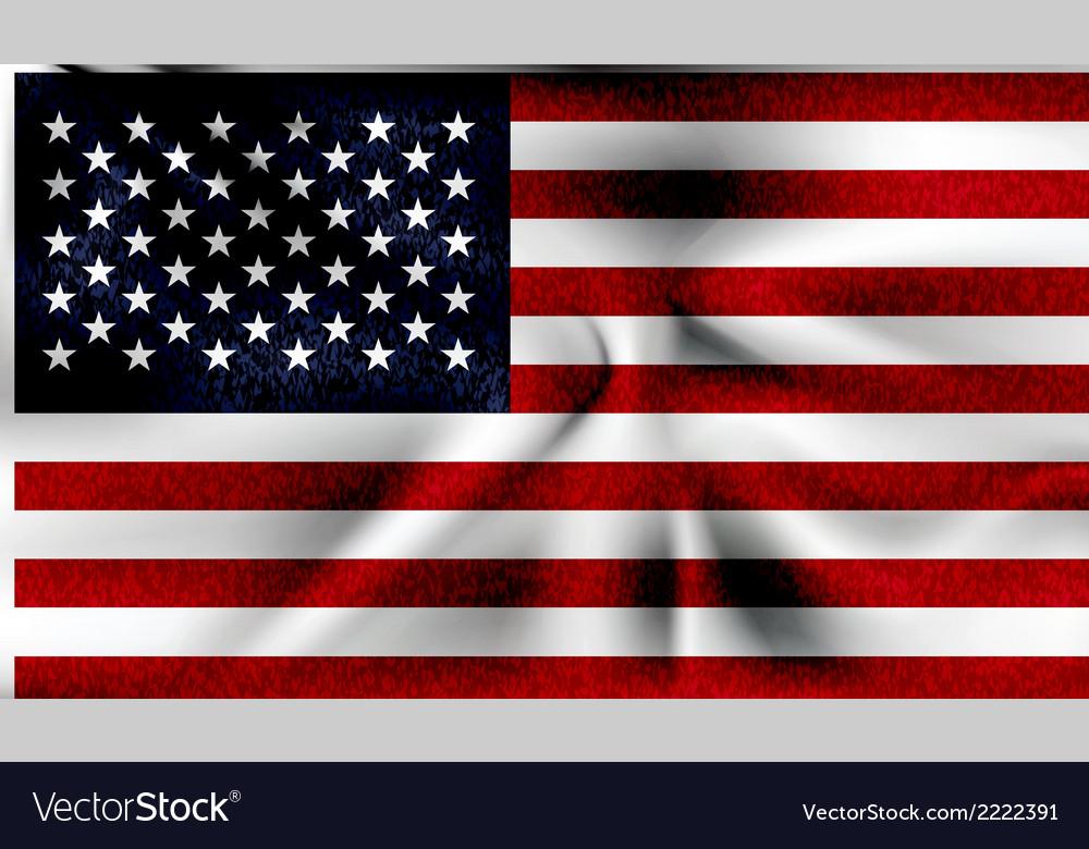 Grunge usa flag vector | Price: 1 Credit (USD $1)