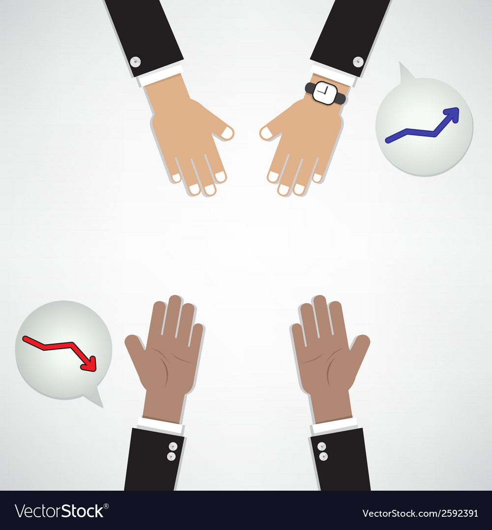 Hands of businessman with graph increase vector | Price: 1 Credit (USD $1)
