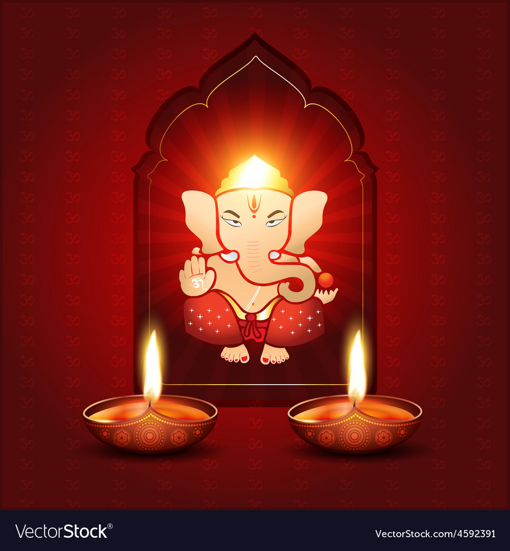 Indian god ganesh vector | Price: 3 Credit (USD $3)