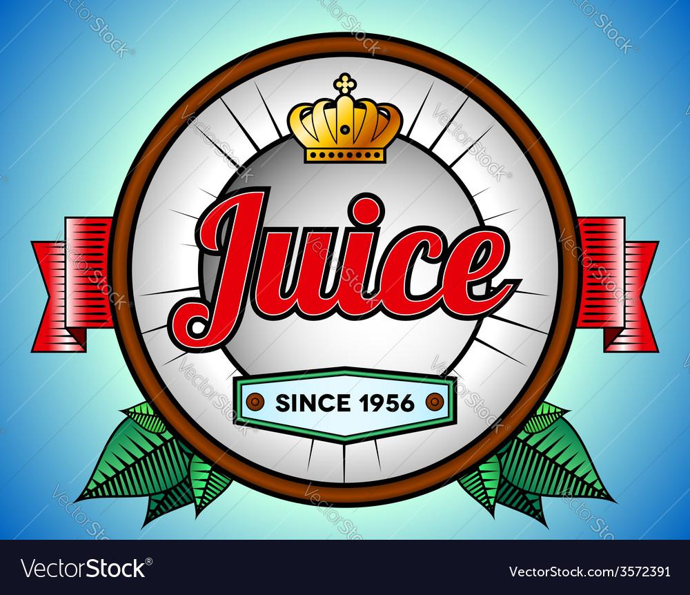 Juice or soda label vector | Price: 1 Credit (USD $1)