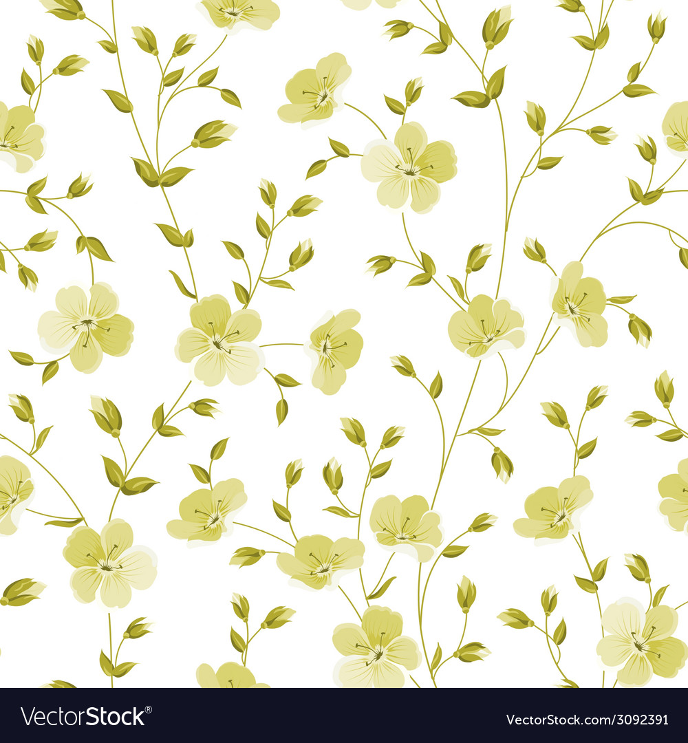 Seamless flowers pattern vector   Price: 1 Credit (USD $1)