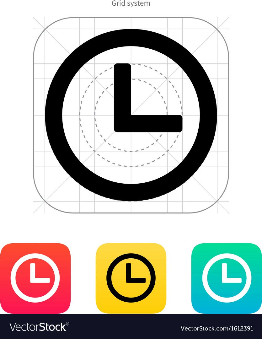 Time and clock icon vector | Price: 1 Credit (USD $1)