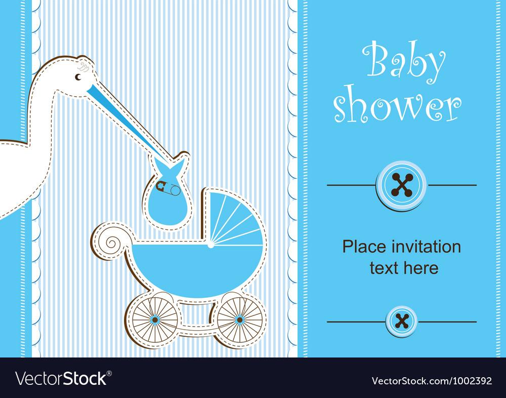Baby shower - boy vector | Price: 1 Credit (USD $1)