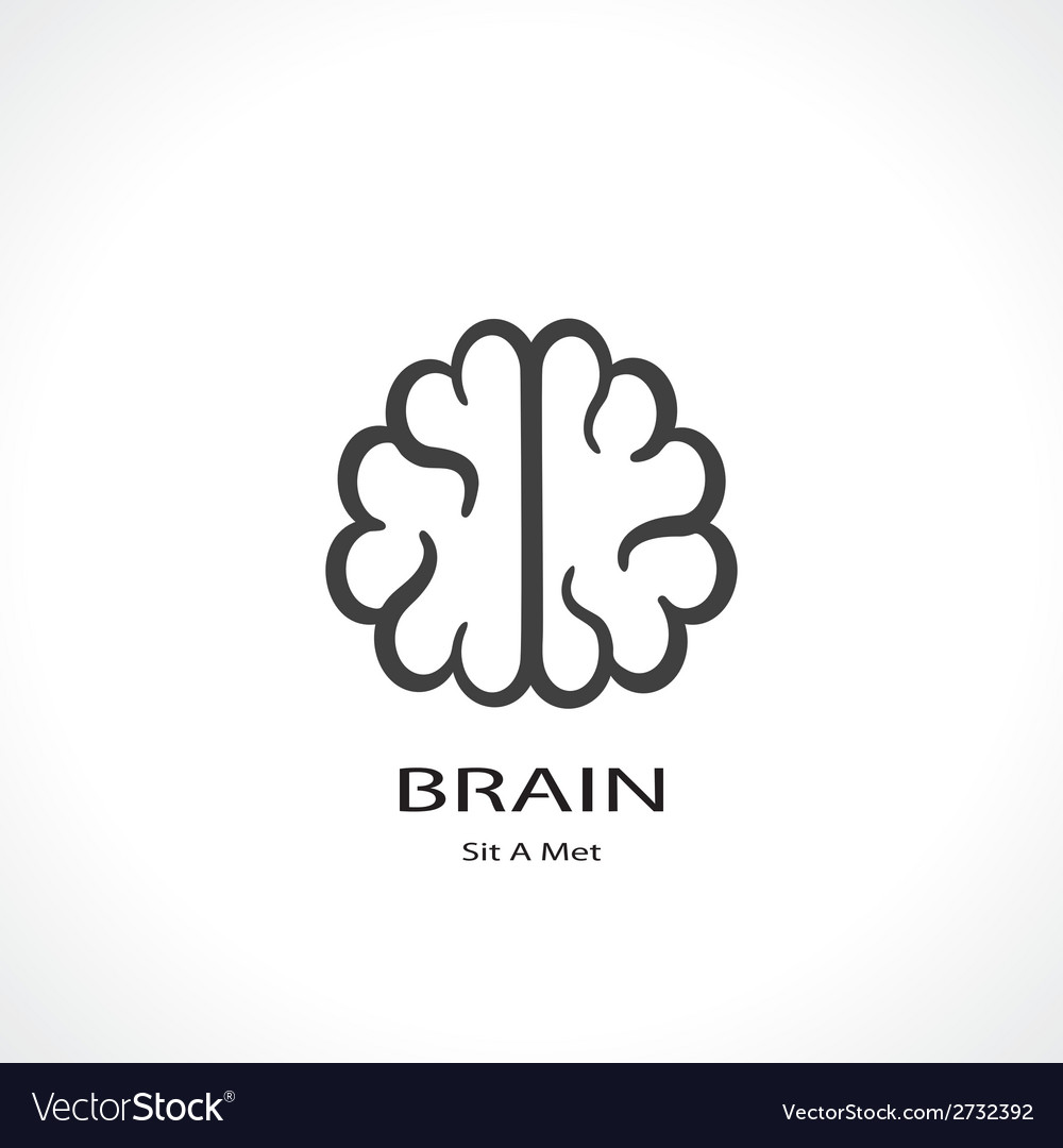 Brain symbol vector | Price: 1 Credit (USD $1)