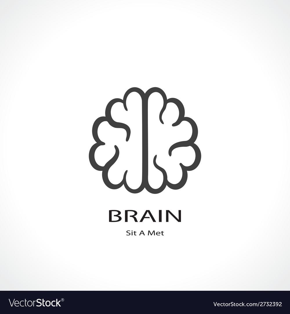 Brain symbol vector | Price: 1 Credit (USD $1)