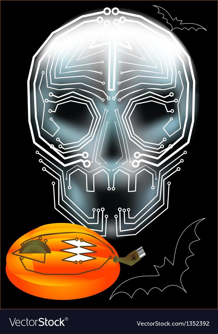 Computerized halloween vector | Price: 1 Credit (USD $1)