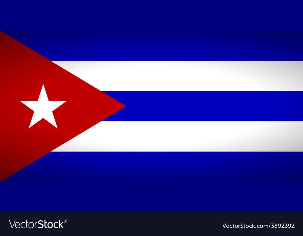 Flag of cuba vector | Price: 1 Credit (USD $1)