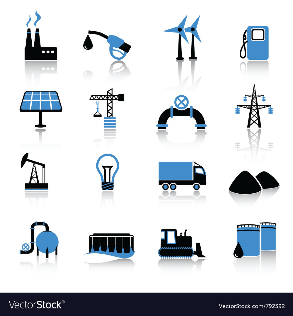 Industry icons vector | Price: 1 Credit (USD $1)