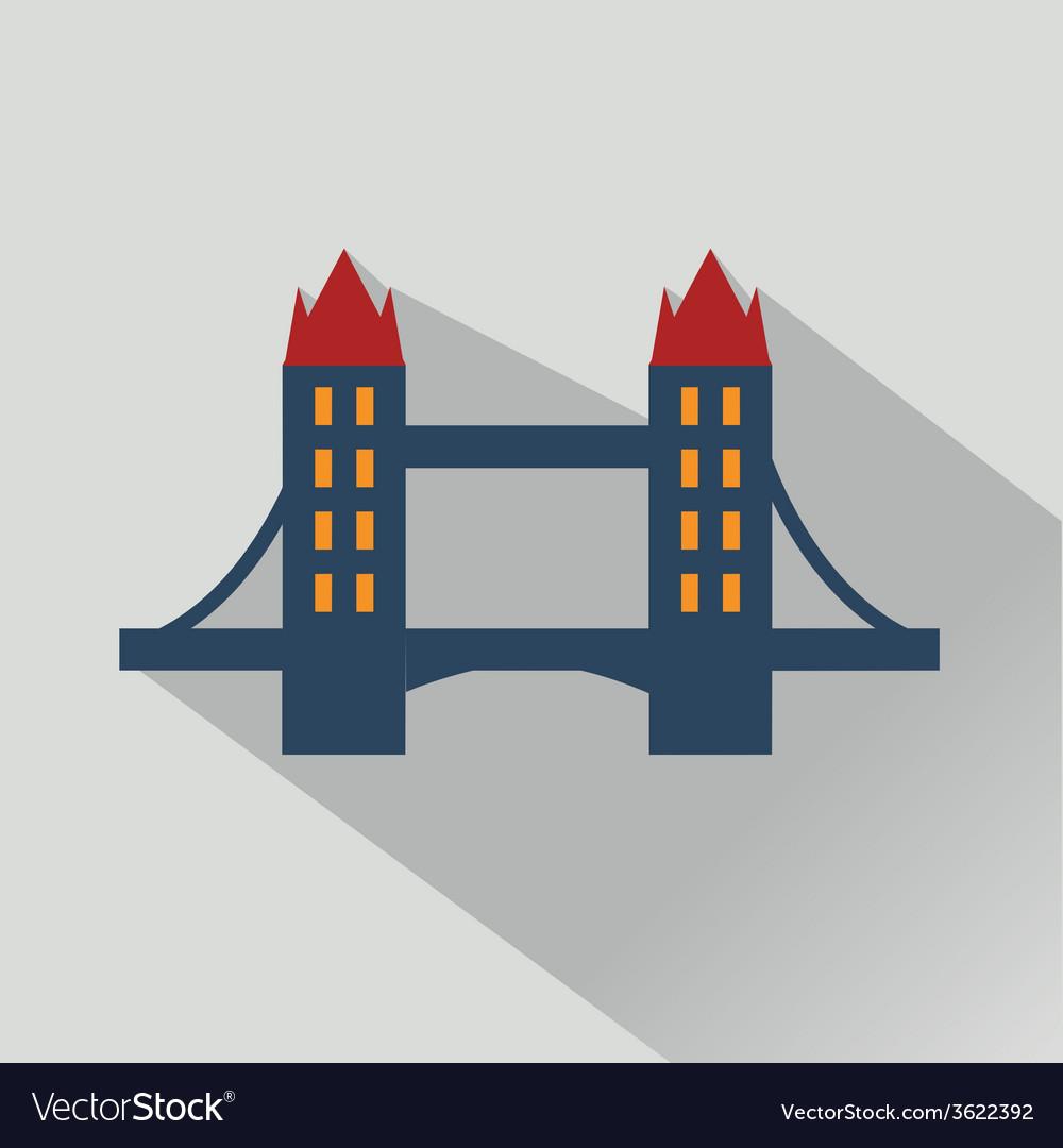 Isolated bridges big icons set vector   Price: 1 Credit (USD $1)