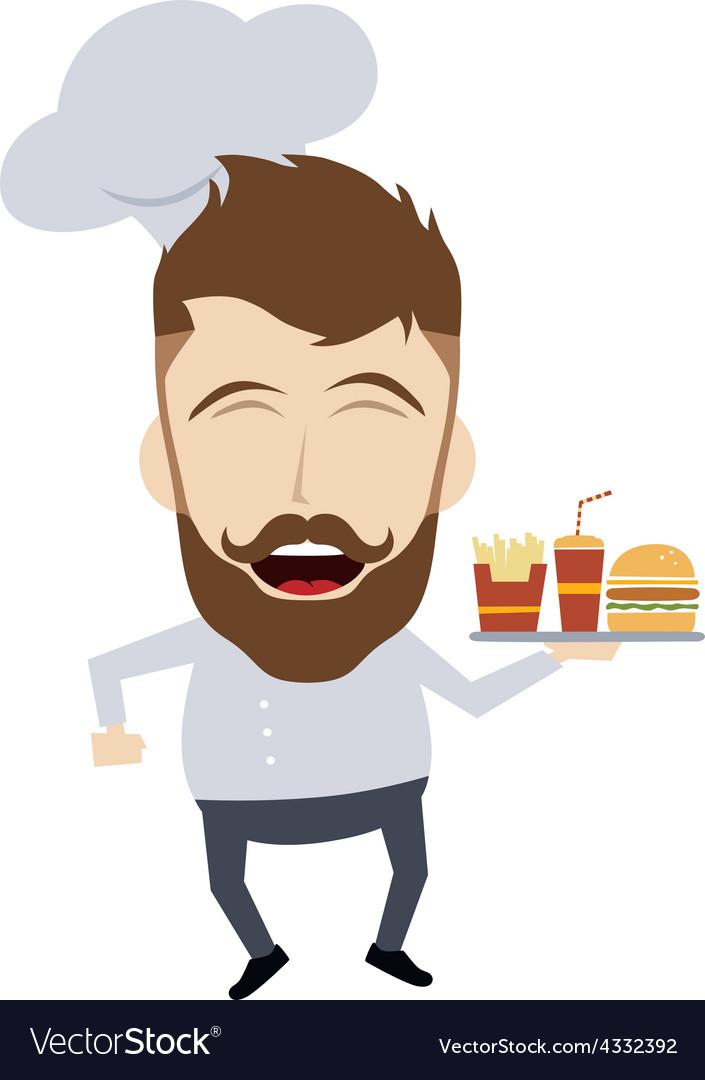Master chef cartoon vector | Price: 1 Credit (USD $1)
