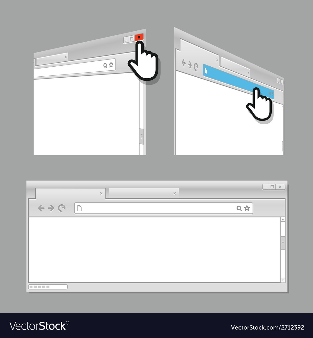 Modern web browser template vector | Price: 1 Credit (USD $1)