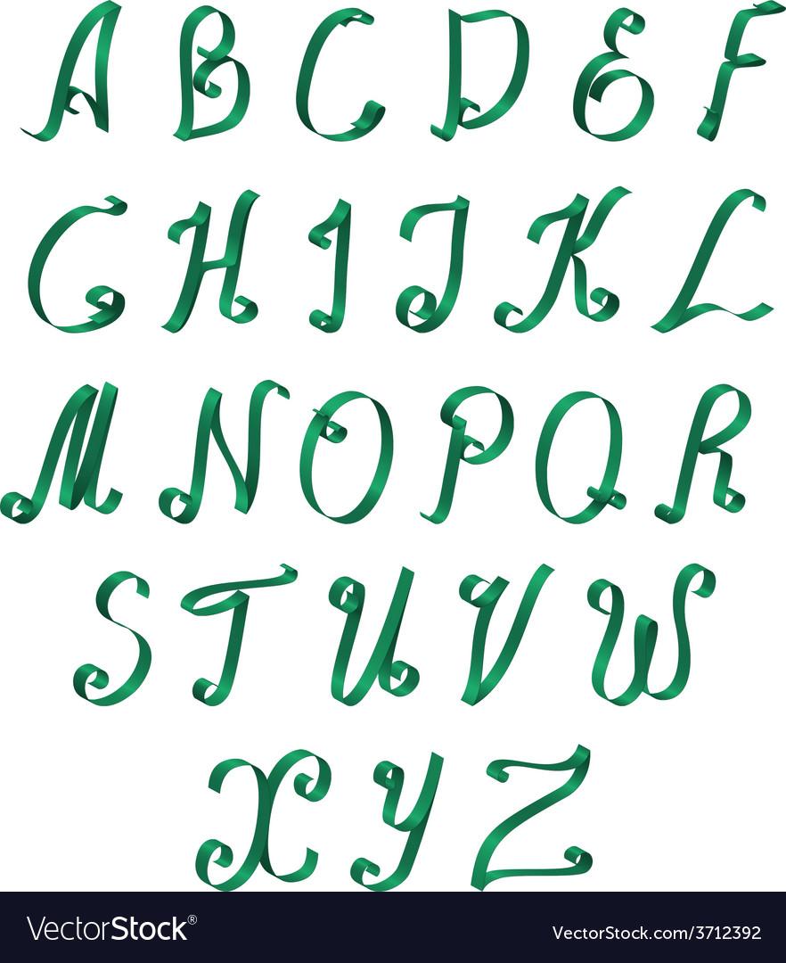 Ribbon alphabet vector | Price: 1 Credit (USD $1)