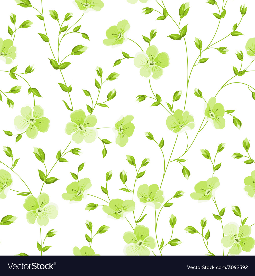 Seamless flowers pattern vector | Price: 1 Credit (USD $1)