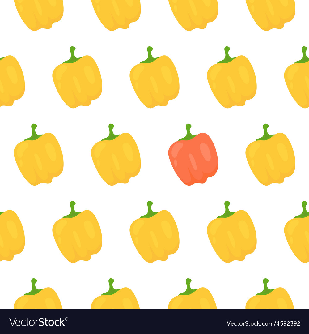 Sweet pepper seamless pattern vector | Price: 1 Credit (USD $1)