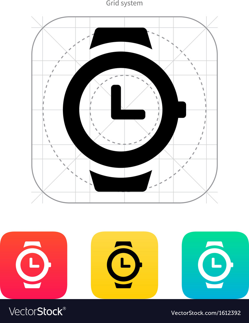 Wristwatch icon vector | Price: 1 Credit (USD $1)