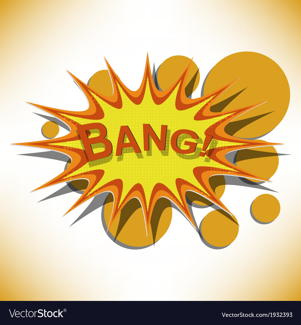 Bang comic book explosion vector | Price: 1 Credit (USD $1)