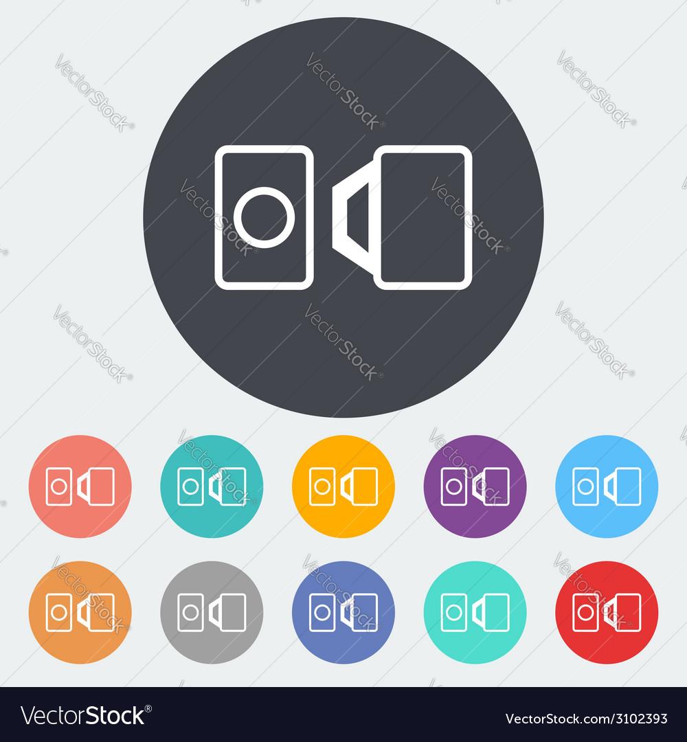 Belt single icon vector | Price: 1 Credit (USD $1)