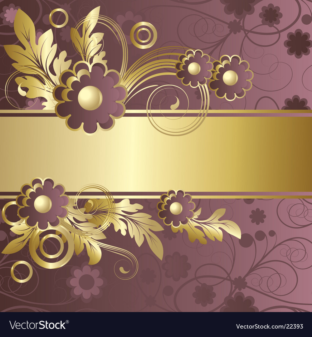 Claret background with flowers vector | Price: 1 Credit (USD $1)
