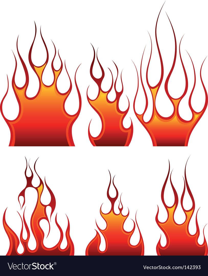 Fire icon set vector | Price: 1 Credit (USD $1)