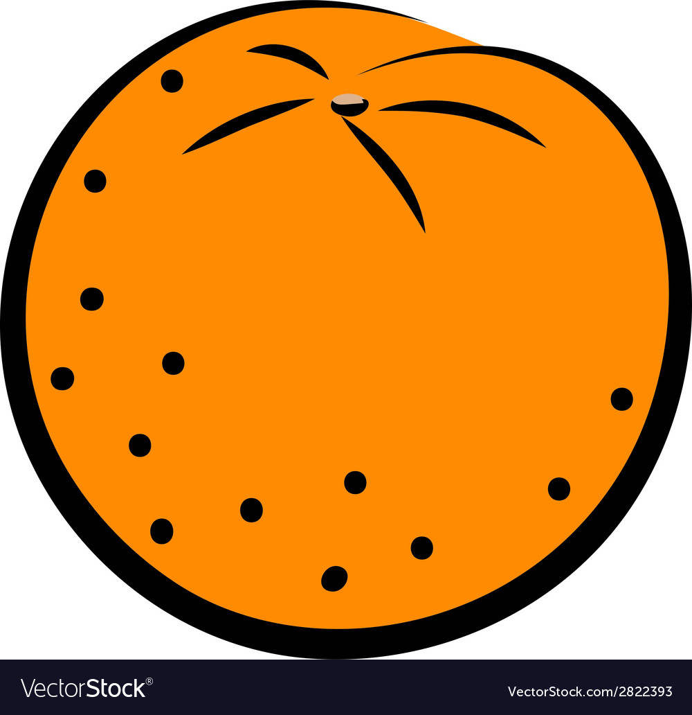 Icon of orange vector | Price: 1 Credit (USD $1)
