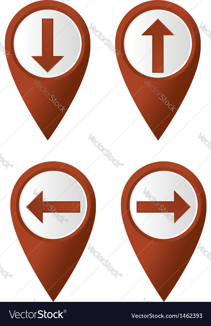 Map pointer arrow vector | Price: 1 Credit (USD $1)