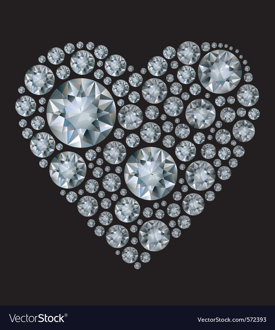 Shiny diamond heart vector | Price: 1 Credit (USD $1)