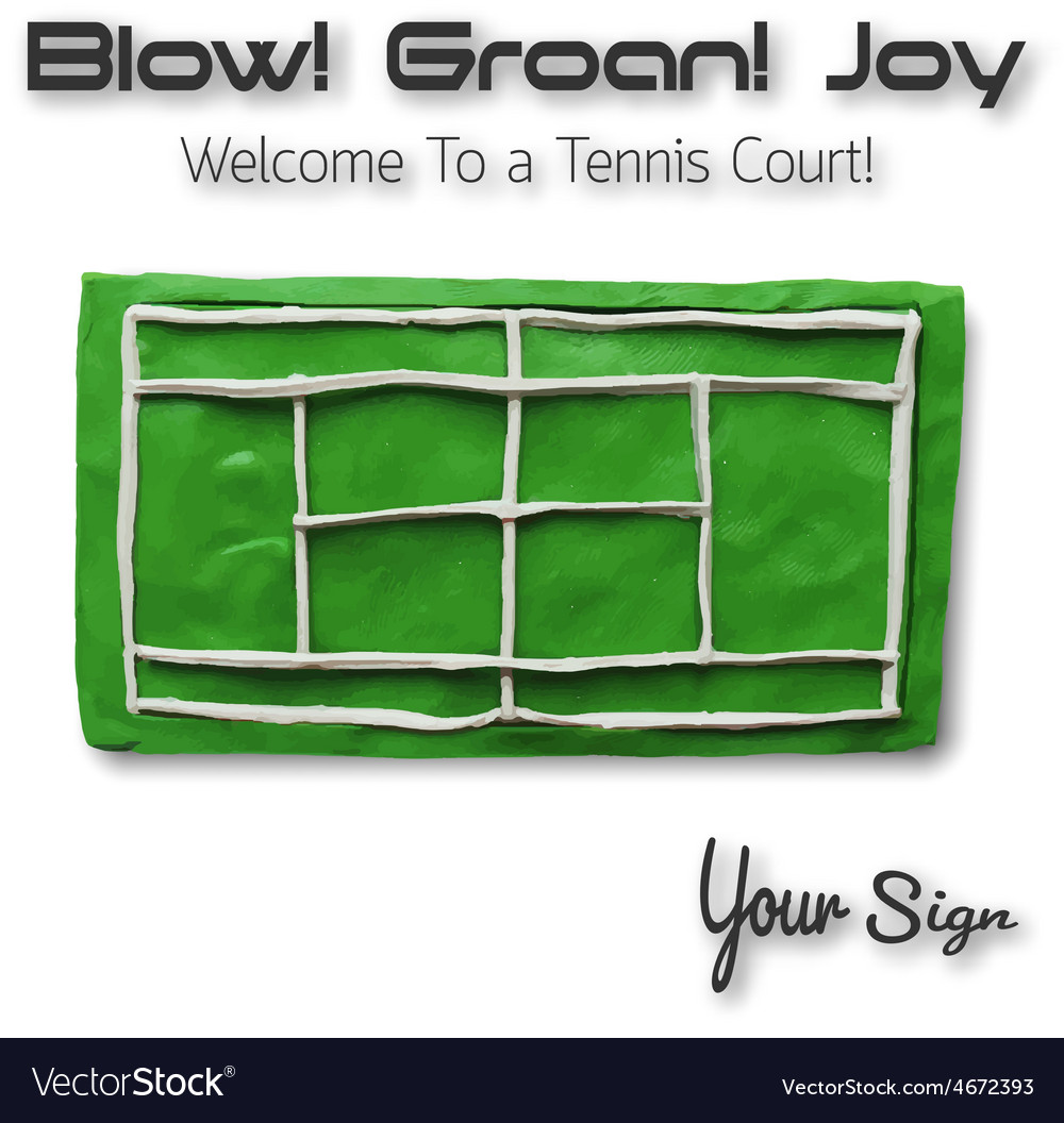 Top view of tennis court vector | Price: 1 Credit (USD $1)