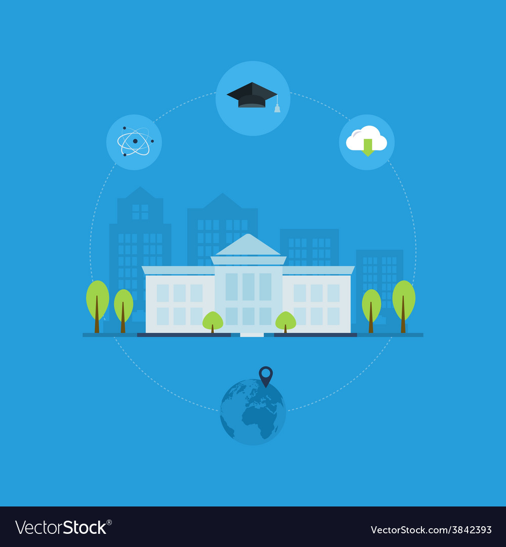 University building icon vector | Price: 1 Credit (USD $1)
