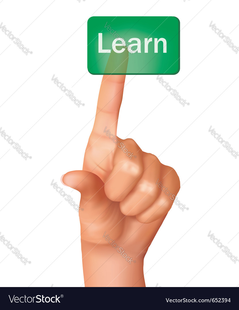 A finger pushing learn button vector | Price: 1 Credit (USD $1)