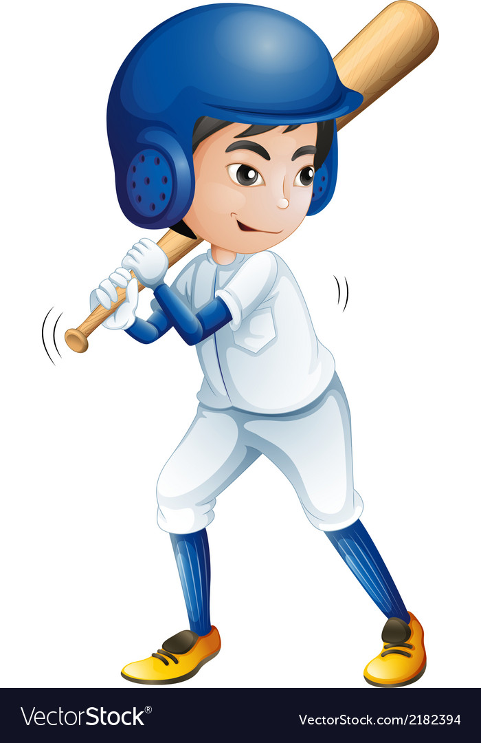 A young baseball player vector | Price: 1 Credit (USD $1)