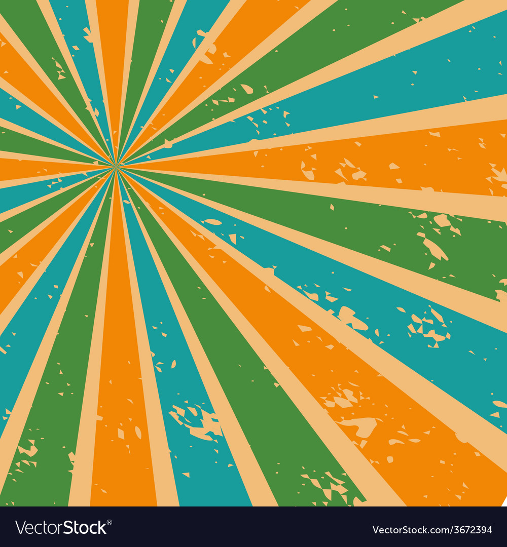 Abstract sunburst background in retro color vector | Price: 1 Credit (USD $1)